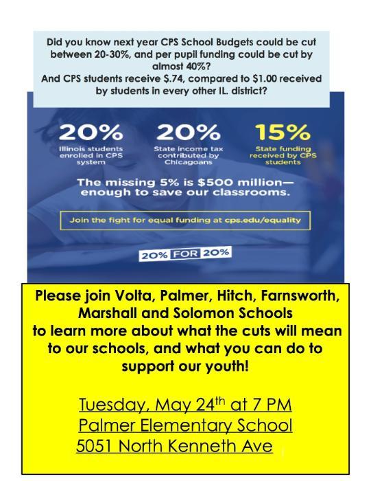 IMPORTANT: School Funding Parent Meeting - John M  Palmer Elementary